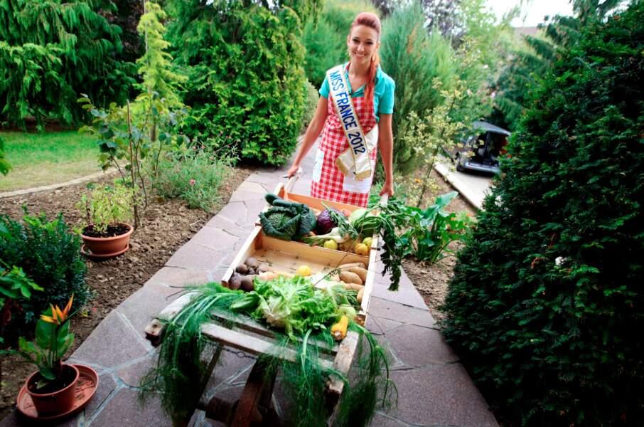 Delphine Wespiser a concoté un repas à base de fruits et légumes