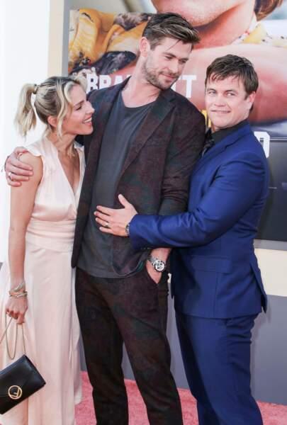 Chris Hemsworth, sa femme Elsa Pataky, et son frère Luke Hemsworth