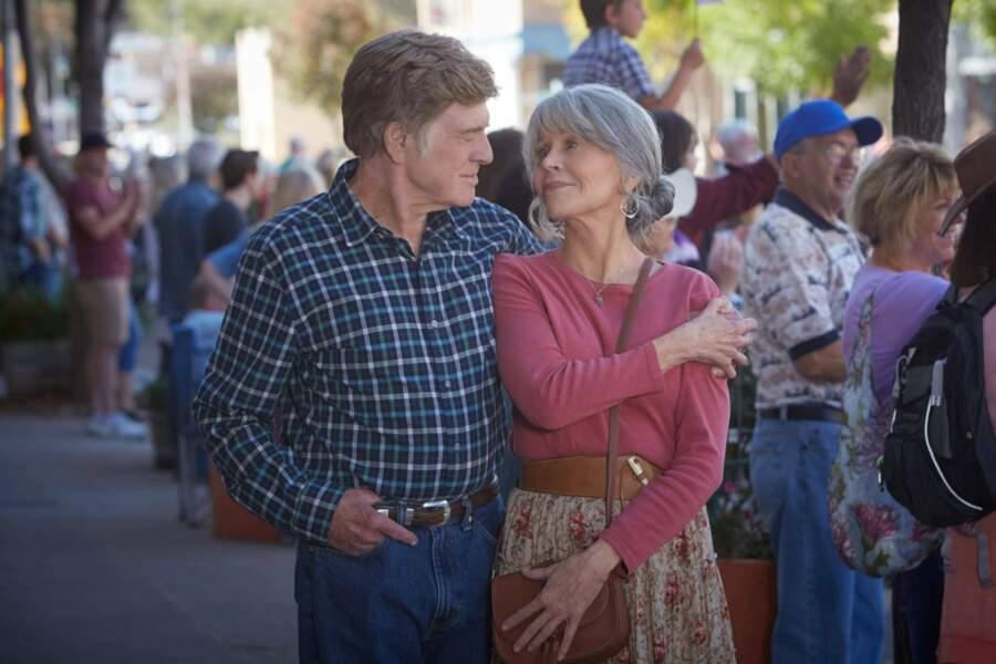 En 2017, Jane Fonda retrouve pour la 4ème fois l'acteur Robert Redford dans le film Nos âmes la nuit pour Netflix
