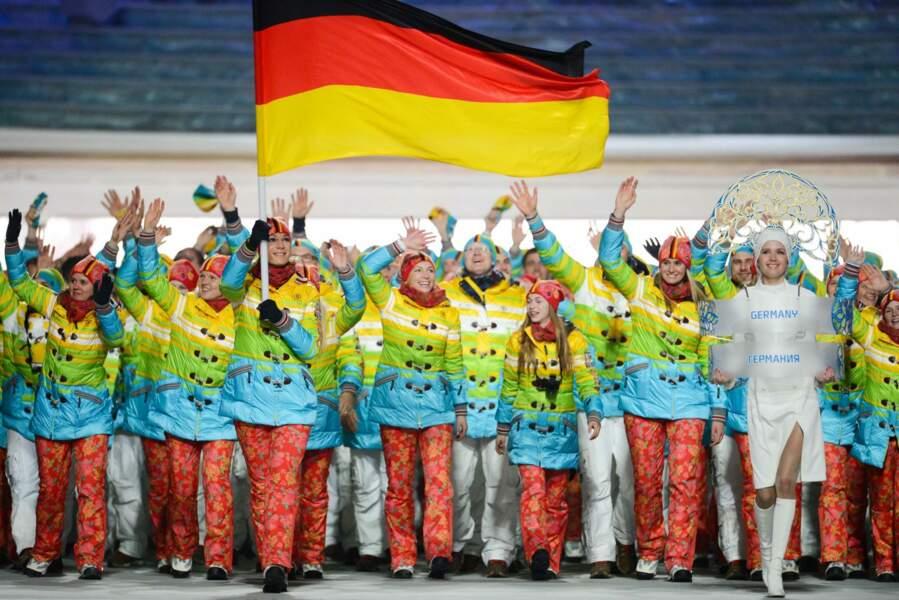 L'Allemagne ne remportera pas la médaille d'or du bon goût vestimentaire... mais postule pour celle du ridicule !