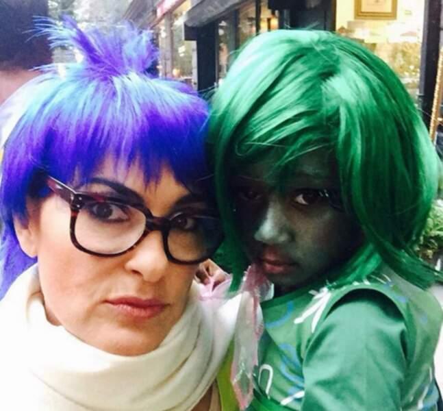 Et Mariska Hargitay et sa fille Amaya étaient Joie et Dégoût du film Vice-versa.