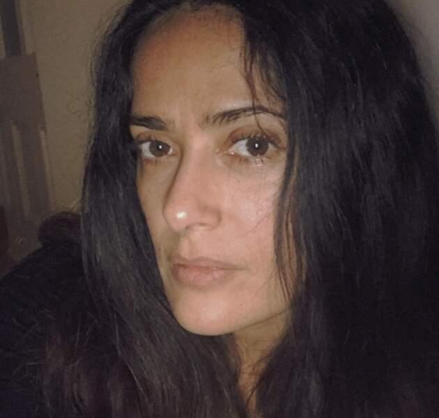 Salma Hayek s'est montrée sans maquillage et sans filtre.