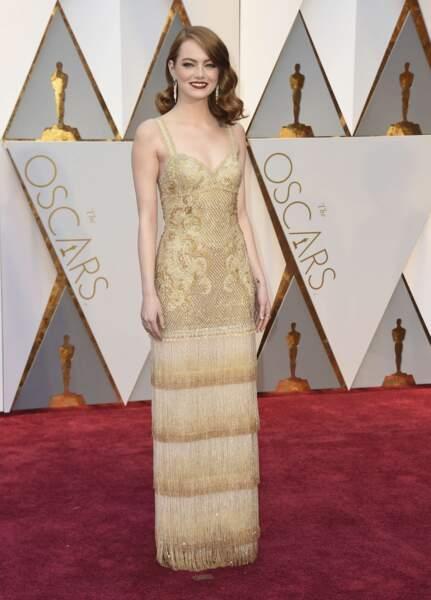 Emma Stone, une belle tête de gagnante !