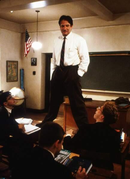 Robin Williams dans Le Cercle des poètes disparus en 1989