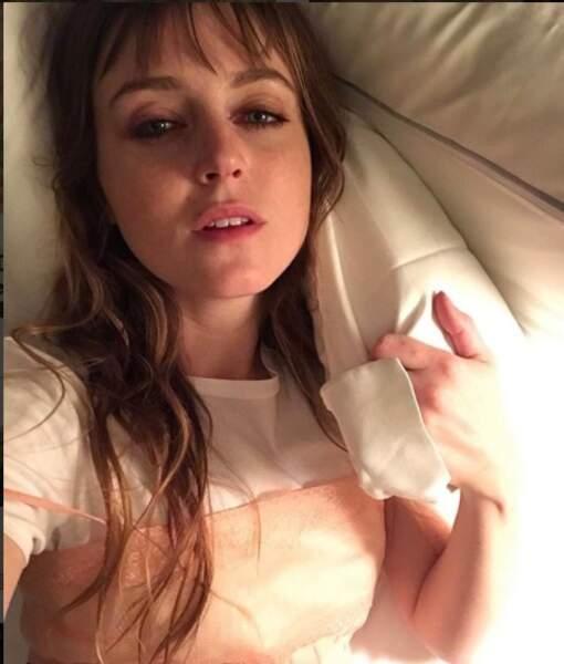 Lorraine juste avant de s'endormir a gardé son petit caraco