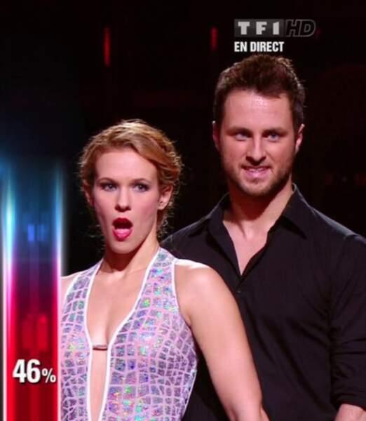 Lorie lors de son élimination de Danse avec les stars 3 sur TF1