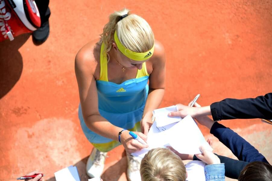 ou encore avec la jeune Française Kristina Mladenovic.