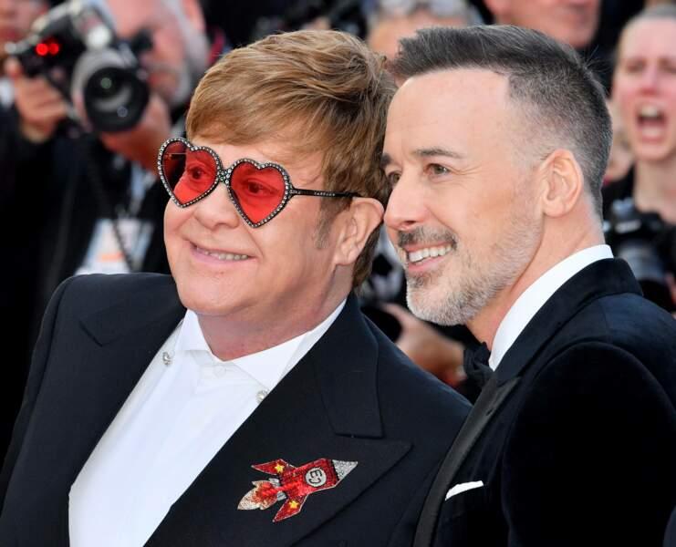 Elton John et son compagnon David Furnish