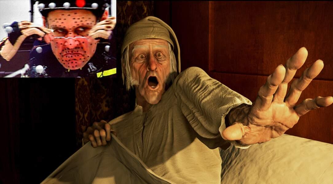 ... pour son rôle de Scrooge, dans Le drôle de Noël de Scrooge (2009) de Robert Zemeckis