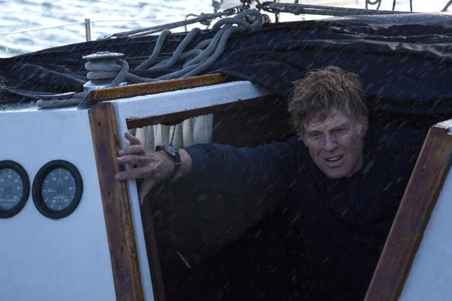 Dans All is lost, Robert Redford lutte contre une mer déchaînée pour s'en sortir