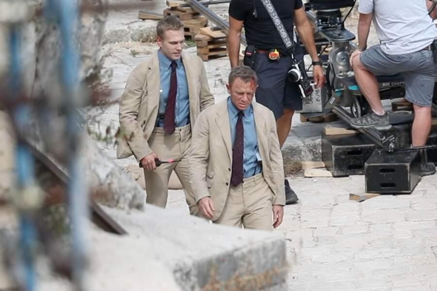 Daniel Craig avec sa doublure