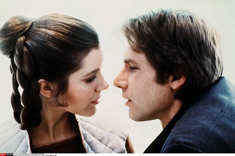 Leia et Han, couple à l'écran, mais pas que...