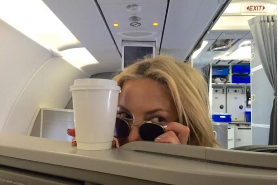 Anonyme en avion