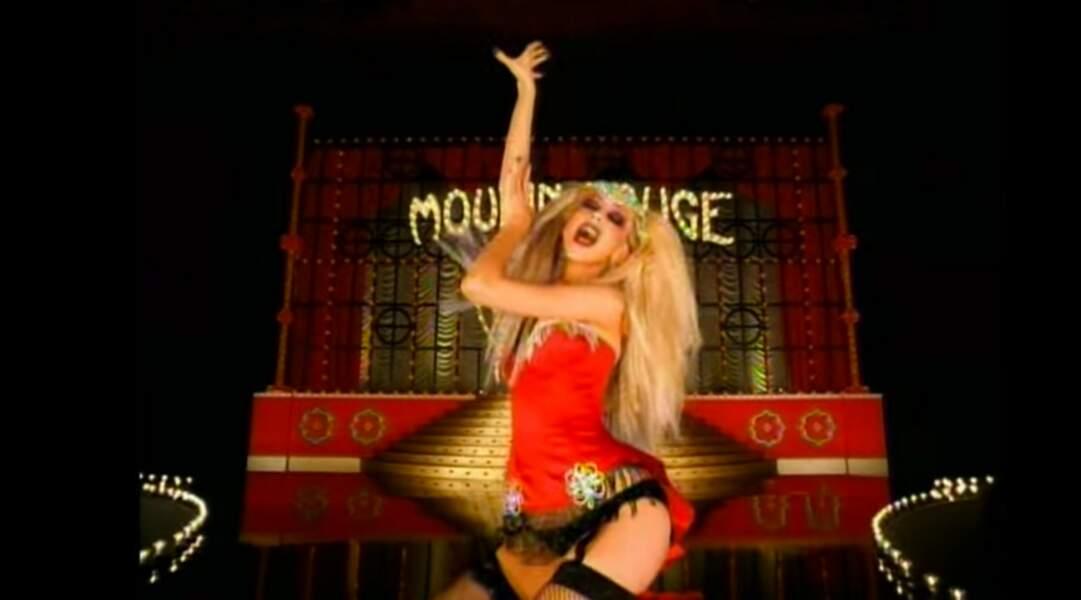 Dix ans plus tard, en 2001, elle change d'image dans le clip tiré de la bande originale du film Moulin Rouge !