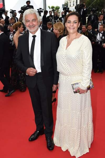 Franck Provost et sa fille Olivia à la montée des marches pour la projection de Mad Max : Fury Road