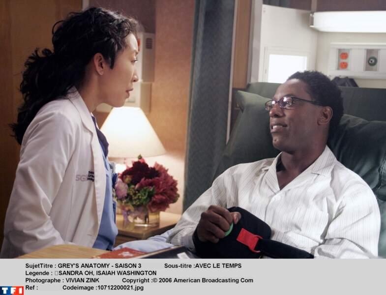 Preston Burke : en 2007, Isaiah Washington est viré pour propos homophobes contre l'acteur T.R. Knight