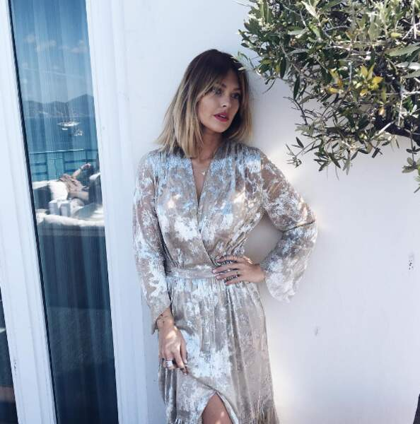 Point sexy : Caroline Receveur l'a jouée bling-bling à Cannes...