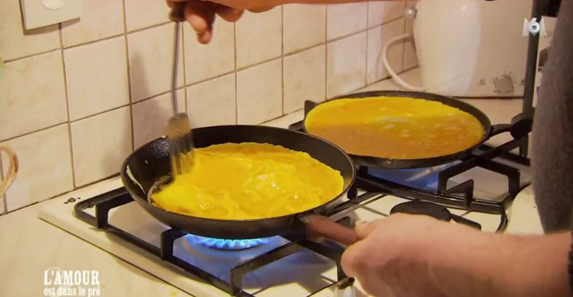 Bernard est le PRO des omelettes !