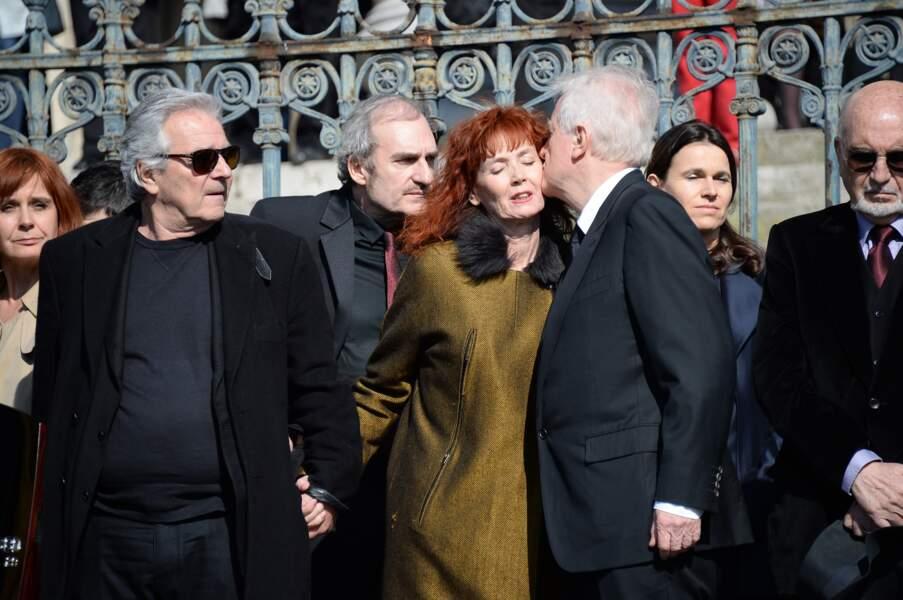 Sabine Azéma, entourée de Pierre Arditi et André Dussollier