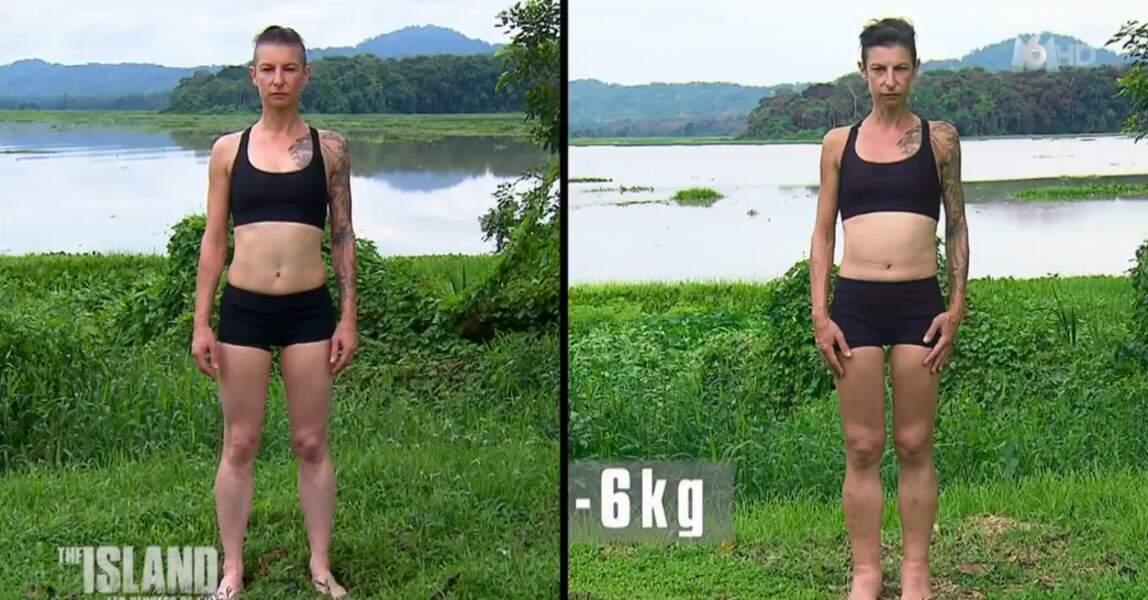 Chez les filles, on commence par Isabelle, l'une des cadreuses : moins 6 kilos