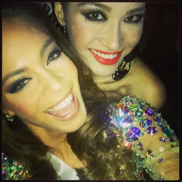 A Moscou, elle s'est déjà fait une super copine : Miss China !
