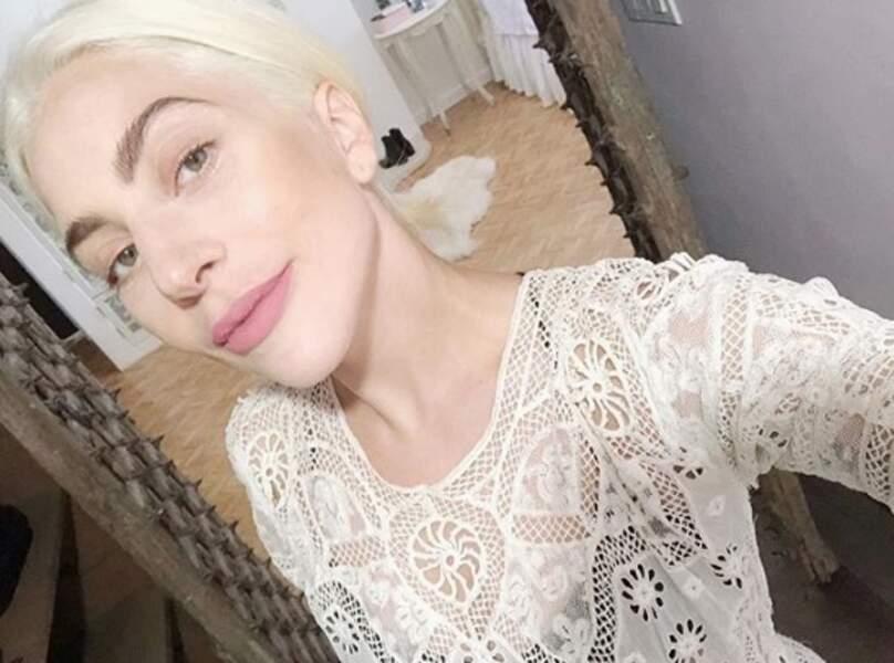 Au naturel, Lady Gaga était méconnaissable.