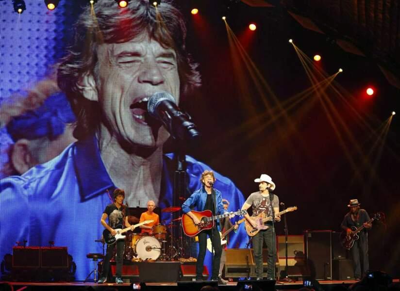 Les Rolling Stones en concert à Philadelphie le 18 juin 2013