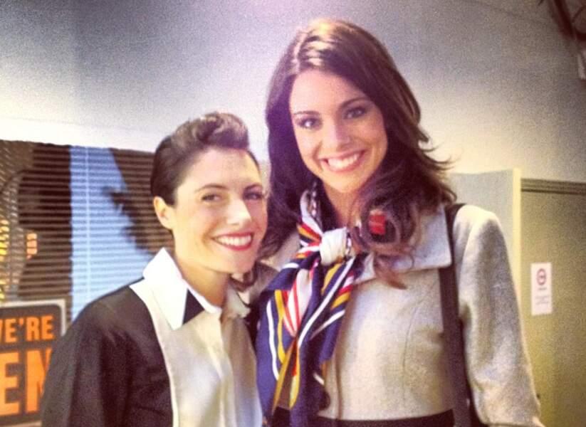 Deux belles femmes : Alessandra Sublet et Marine Lorphelin