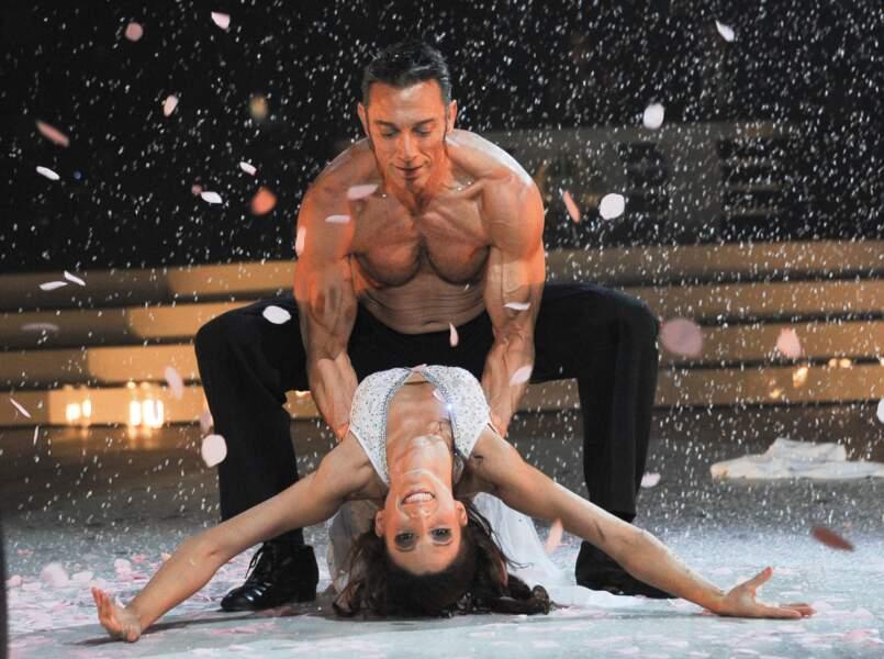Gérard Vivès et Sylvia à la première de la tournée Danse avec les stars à Bercy