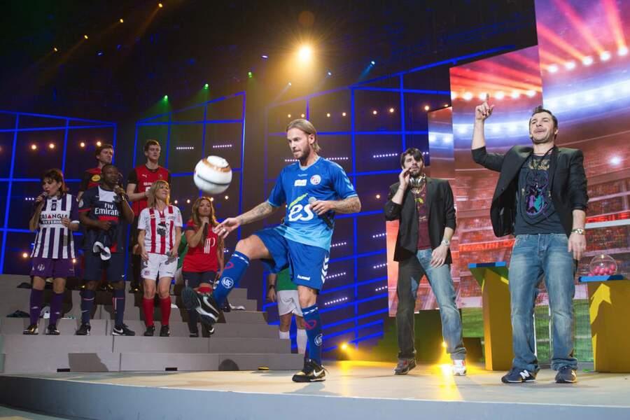 Les Enfoirés auront permis à M. Pokora de revenir à sa première passion : le foot ! Sexy