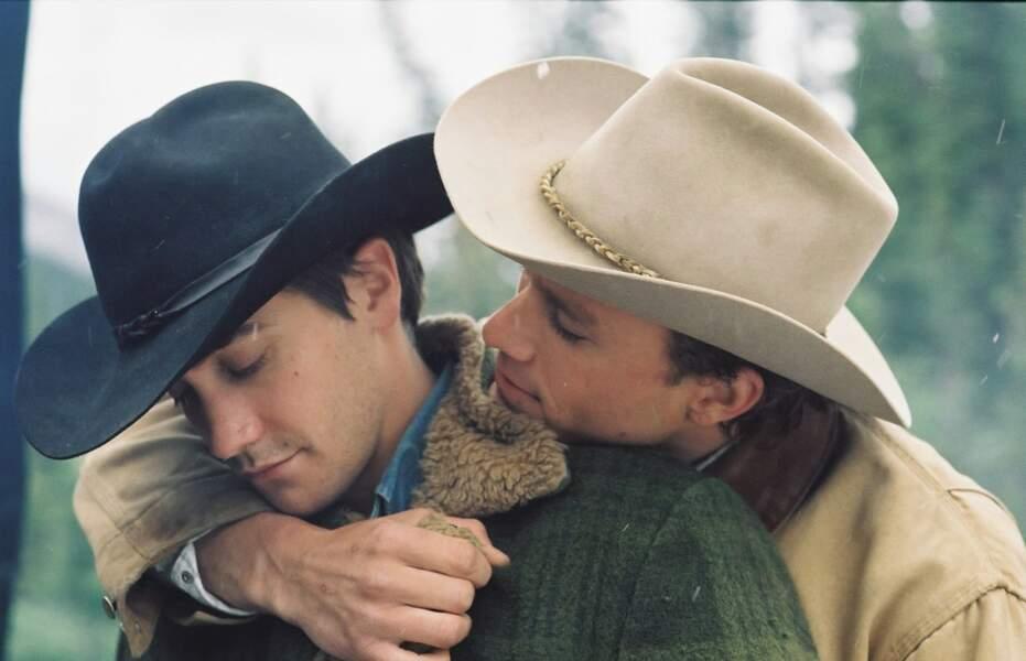 Le regretté Heath Ledger découvre l'amour auprès du jeune Jake Gyllenhaal dans Le Secret de Brokeback Mountain