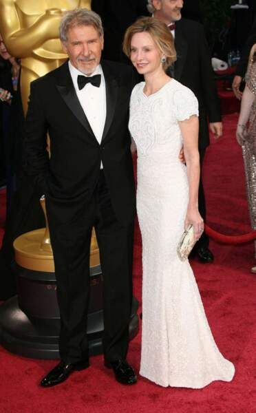 Harrison Ford et Calista Flockhart amoureux et complices sur le tapis rouge