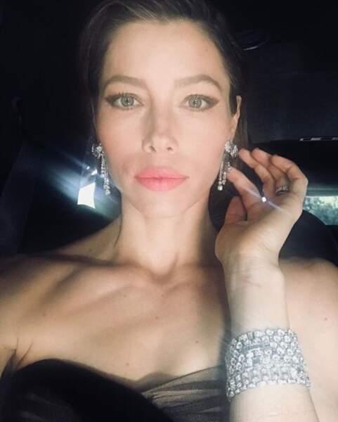 Jessica Biel brillait de mille feux avec ses magnifiques bijoux