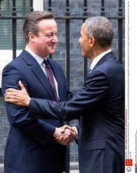 Le président américain y a rencontré le Premier ministre David Cameron