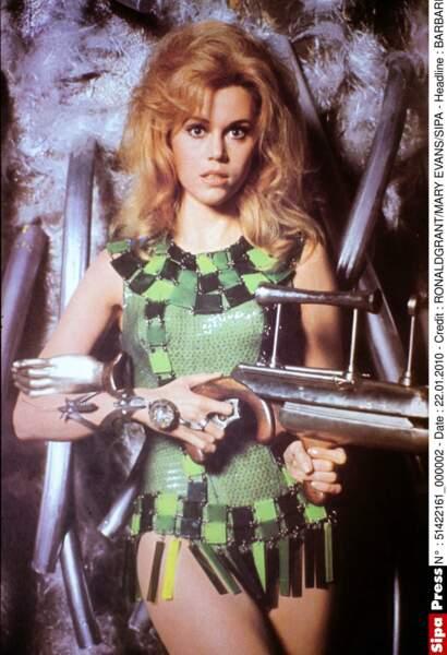 En décrochant le rôle-titre du film d'heroic fantasy Barbarella, en 1968, elle devient un sex-symbol
