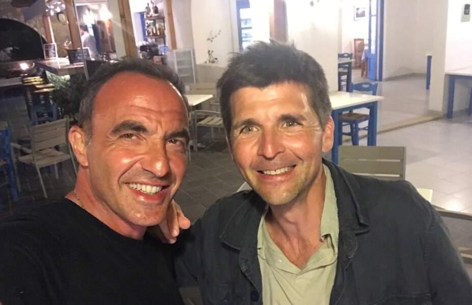 Là-bas, il a été rejoint par son ami Thomas Sotto !
