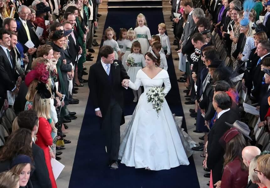 La princesse Eugenie au bras de son époux