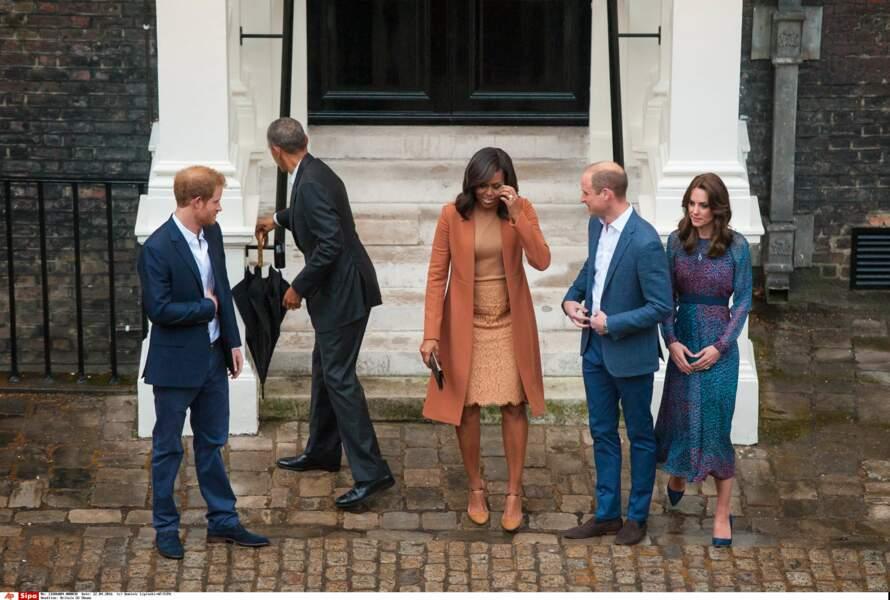Du coup, Barack Obama s'est enfin débarrassé de son parapluie