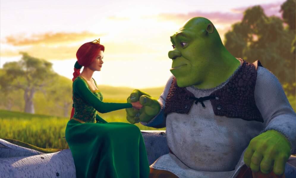 Avec un monstre péteur : la princesse Fiona et Shrek (2001)