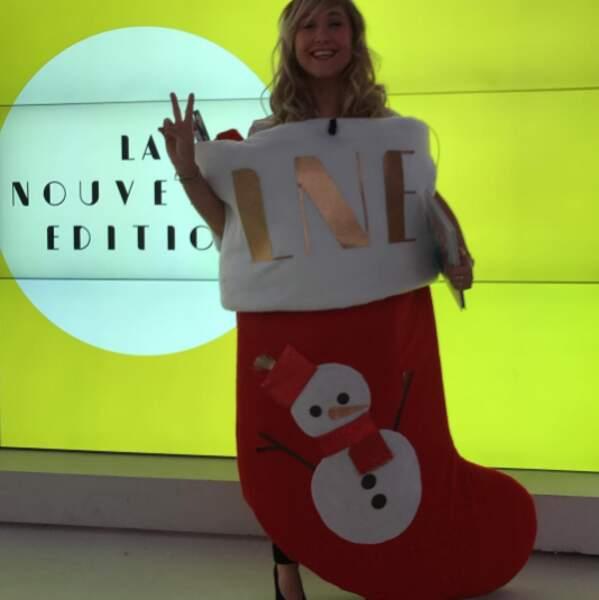 Bérengère Krief s'est déguisée en chaussette géante sur le plateau de La Nouvelle Edition.