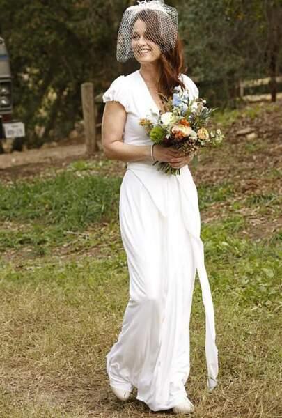 La sublime Teresa Lisbon en robe de mariée...