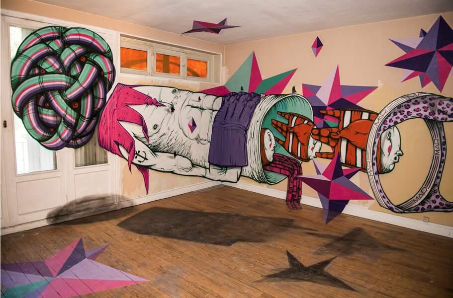 Les artistes ont pleinement pris possession des lieux