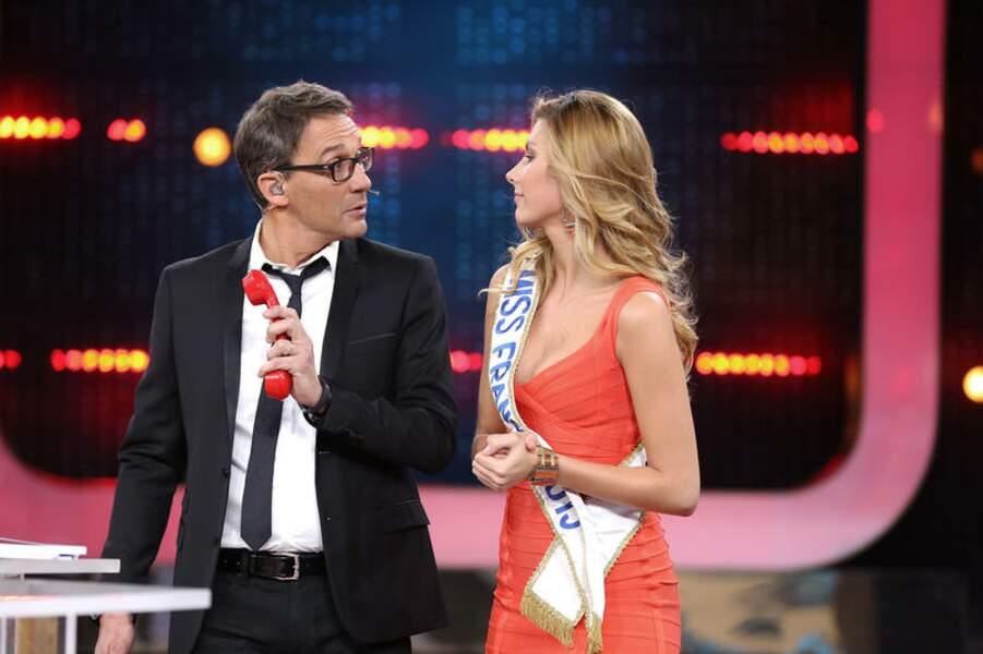 Sûr que le banquier n'est pas non plus insensible aux charmes de Miss France 2015