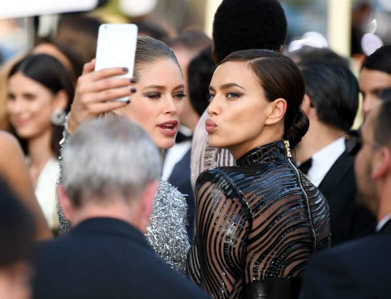 Un petit selfie avec la copine Doutzen Kroes ?