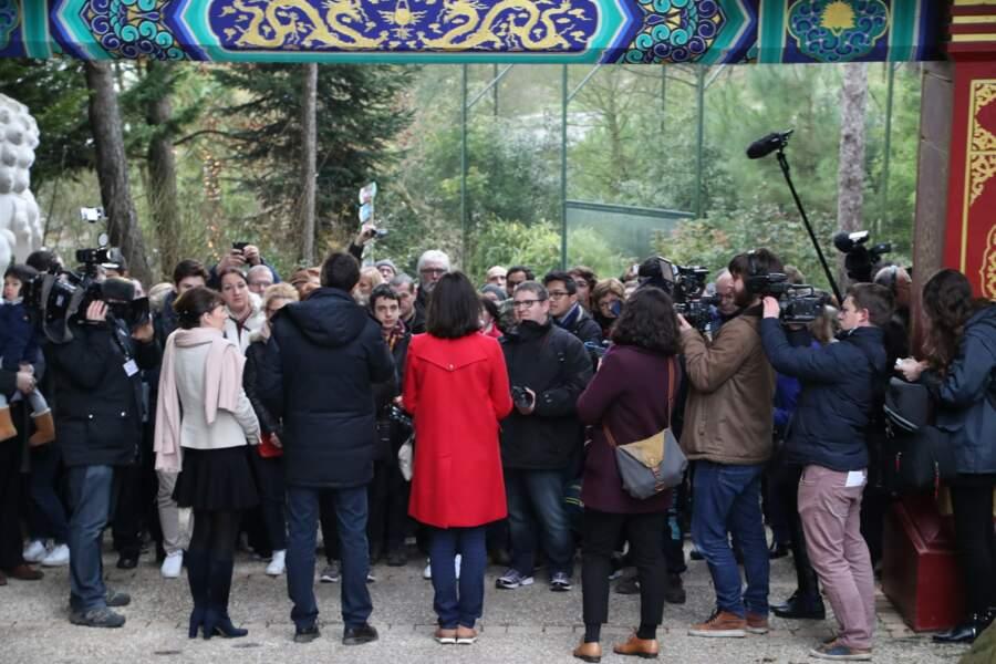 La foule était au rendez-vous pour témoigner des premiers pas du bébé panda !