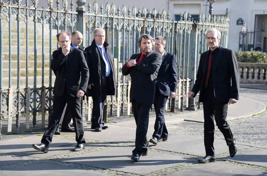 Arrivée de Denis Podalydes, Mathieu Amalric et Michel Vuillermoz