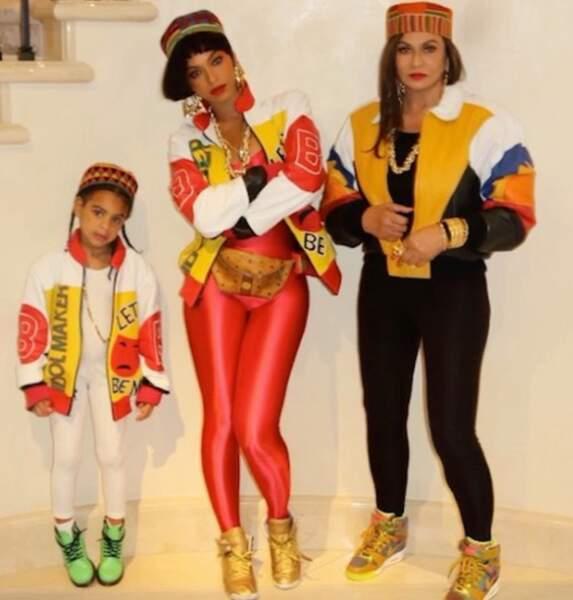 Et Beyoncé avait carrément réquisitionné sa fille Blu Ivy et sa mère Tina pour recréer le groupe Salt-N-Pepa.