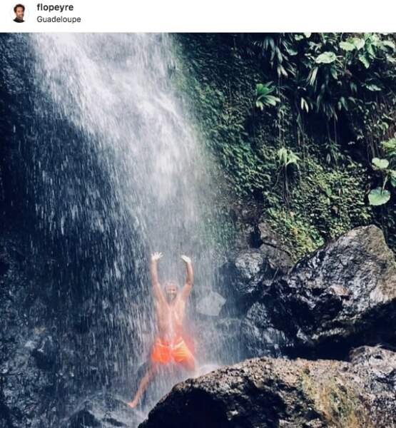 Florent Peyre se la coule douce en Guadeloupe