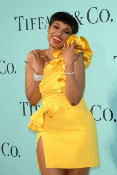 L'actrice et chanteuse Jennifer Hudson a adoré porter sa robe jaune poussin