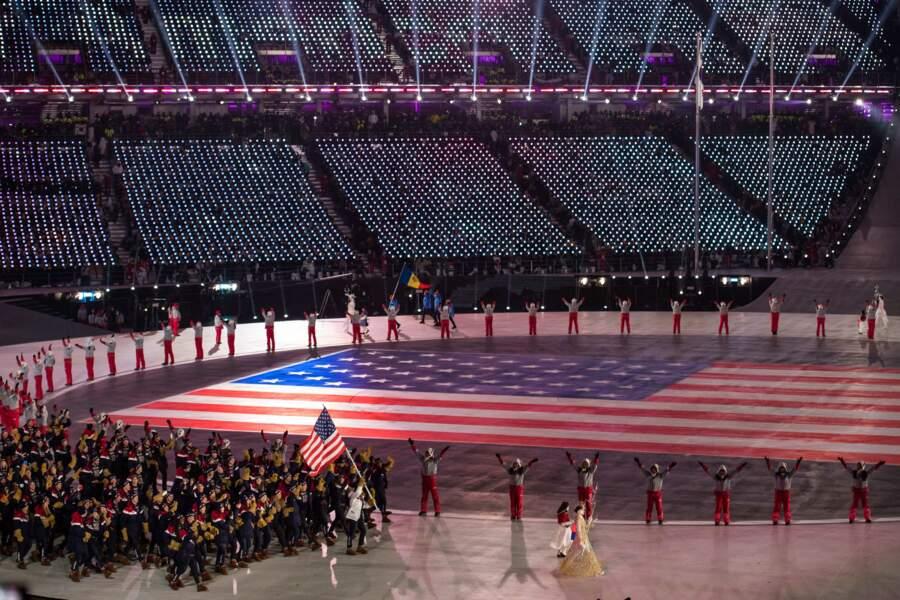 Impossible de louper les 241 athlètes américains !